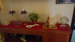 Kolla pepparkakshuset, det är sen förra julen.
